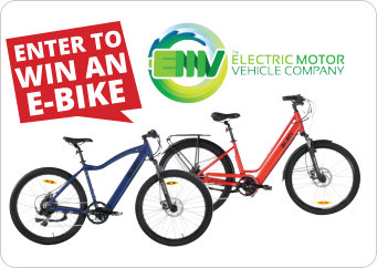 Be in to win one of two e-bikes